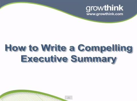How To Write An Executive Summary For Business Plan