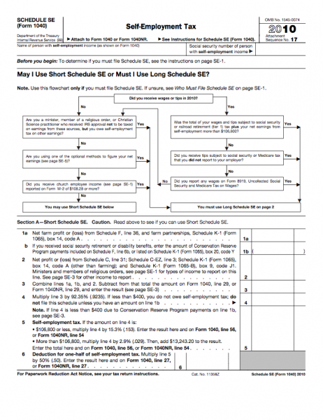 Form 1040-SE - Self-Employment Tax.pdf | Business Forms