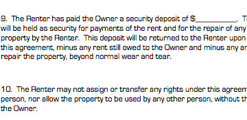 Personal property rental agreement complex business forms